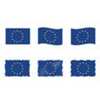 european union flag flag set eu vector image vector image