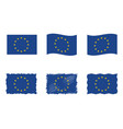 european union flag flag set of eu vector image vector image