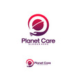 food planet logo designs food place logo template vector image vector image