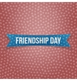 Friendship Day blue paper Ribbon vector image vector image
