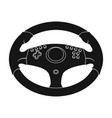 game steering wheel single icon in black style for vector image