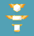 golden badge symbol collection vector image