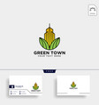 green city agriculture logo template icon element vector image