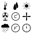 heating icon set vector image