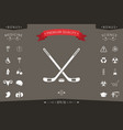 hockey icon symbol vector image