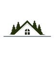 house mountain realty resort logo vector image vector image