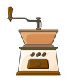 icon mechanical coffee grinder vector image vector image