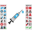 Infection Injection Icon vector image