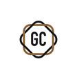 initial letter gc elegance logo design template vector image vector image