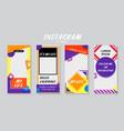 instagram photo story frame mockups vector image vector image