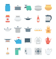 Kitchen Colored Icons 4 vector image vector image