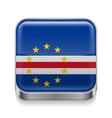 Metal icon of Cape Verde vector image vector image