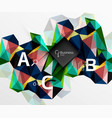 mosaic low poly abstract background with vector image