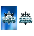 Nautical themed poster The Seafarer vector image