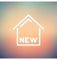 New house thin line icon vector image