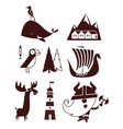 norway flat simple travel style vector image vector image