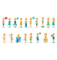 pregnant woman character in different situations vector image