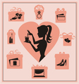 Present pink vector image vector image