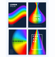 rainbow gradient waves stock four cover design vector image vector image