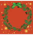 Red Green Wreath Bouquet ornament for christmas vector image vector image