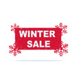 red winter sale sticker with snowflakes vector image vector image