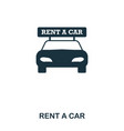 rent a car icon mobile app printing web site vector image vector image