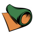 rolled mat icon cartoon vector image vector image
