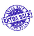 scratched textured extra sale stamp seal vector image vector image