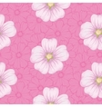 Seamless floral pattern mallow and cosmos vector image