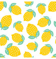 Seamless pattern with cute lemon