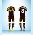soccer jersey and football kit presentation vector image