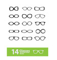 spectacle frames vector image vector image