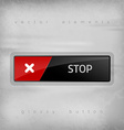 Stop Button vector image vector image