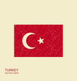 turkey flag turkey flag vector image vector image