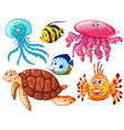 Various kind of sea animals vector image vector image