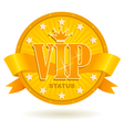 vip status icon vector image vector image