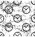 Clock pattern grunge monochrome vector image