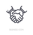 business handshake contract agreement icon vector image