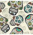 Sugar skulls background vector image