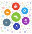 7 toy icons vector image vector image