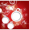 Abstract Christmas winter background for new year vector image vector image