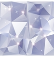 Abstract geometric background of sparkling blue vector image vector image