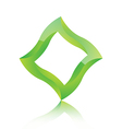 Abstract green square icon vector image vector image