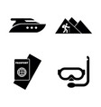 adventure vacation trip simple related icons vector image vector image