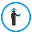 Agent Robber Rounded Icon vector image vector image
