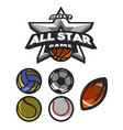 all star game logo emblem vector image