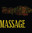 asian massage therapy text background word cloud vector image vector image