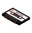 audio cassettte tape vector image vector image