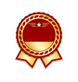 award ribbon isolated gold red design medal vector image vector image