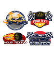 badge design muscle car vector image vector image
